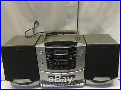 Sony CFD-ZW700 CD / Radio / Cassette Player Portable Boombox Everything Works