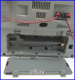 Sony CFD-ZW755 Portable AM FM Dual Cassette CD Player Detachable Speaker Boombox