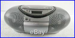 Sony CFDS350 Portable CD Radio Cassette Recorder Boombox Speaker System (Silver)