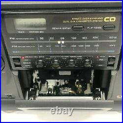 Sony Cfd 510 CD Boombox Mint Condition Portable Stereo Tape Player Black Vintage