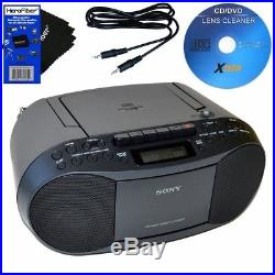 Sony Compact Portable Stereo Sound System Boombox With Mp3 Cd Player, Digital