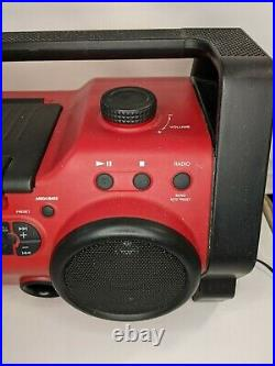 Sony Portable Boom Box Red 25-h10cp Great Condition! Cd player radio all working