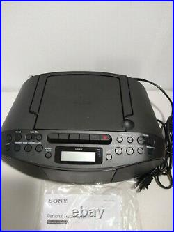 Sony Portable Boombox AM FM Stereo CD-RW MP3 Player Tape Deck Recording New