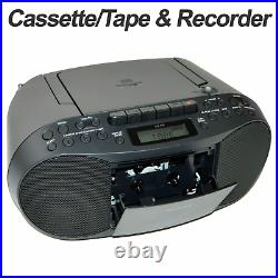 Sony Portable Boombox CD Radio Cassette Player +Wireless Bluetooth Receiver Kit