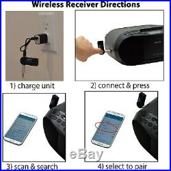 Sony Portable CD Radio Cassette Player Boombox+Wireless Bluetooth Recvr, CD Clnr