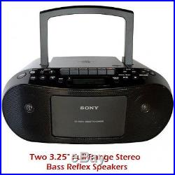 Sony Portable Stereo Boombox with MP3 CD Player, AM/FM Radio, Cassette Recorder