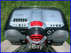 Sony Xplod Portable AC/DC Boombox CD Player Cassette Recorder FM Radio CFDG505
