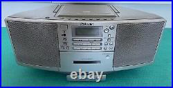 Sony ZS-D5 -Portable CD Radio Cassette Player Ghetto Blaster Boombox with Remote