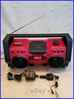 Sony ZS-H10CP Boombox Portable CD Player Rugged Water Resistant With Power Suply