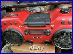 Sony ZS-H10CP Portable Heavy Duty CD Radio AUX Construction Style Boombox WORKS