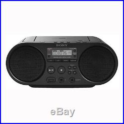 Sony ZS-PS50 CD Boombox with AM/FM Radio Tuner & USB Playback Black