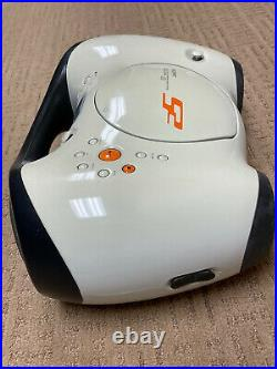 Sony ZS-X3CP Portable Stereo Am/FM Radio MP3 CD Player Boom Box RARE White WORKS