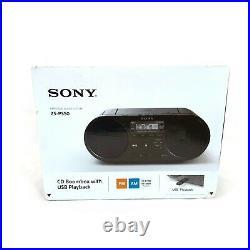 Sony Zs-PS50 Black Portable Cd Boombox Player Digital Tuner Am/FM Radio USB