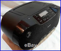 Sony Zs-rs70btb Portable Bluetooth CD Stereo Mega Bass Boombox Dab Fm Radio Usb