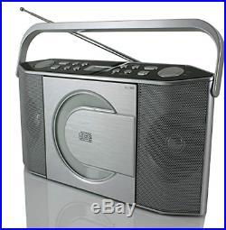 Soundmaster RCD1750SI Portable FM Radio CD Player Silver