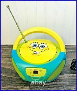 Spongebob Squarepants Portable Radio Boombox AM FM Stereo & CD Player withcord
