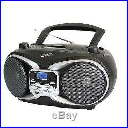 Supersonic Portable Audio System MP3/CD Player with USB/AUX Inputs amp AM/FM R