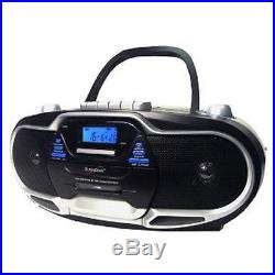 Supersonic Portable Boombox CD/Cassette Player MP3/Tape AM/FM Radio NEW 2013