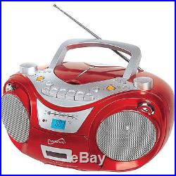 Supersonic Portable MP3/CD Player-Red