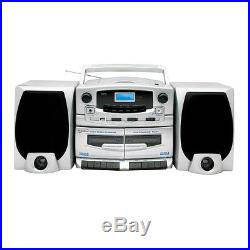 Supersonic Portable MP3/CD Player with Cassette Recorder AM/FM Radio amp USB