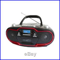 Supersonic Portable MP3/CD Player with USB/AUX Inputs Cassette Recorder amp A
