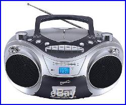 Supersonic SC-709 Portable MP3 CD Player With Cassette Recorder AM FM Radio & US