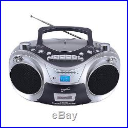 Supersonic SC-709 Portable MP3/CD Player with Cassette Recorder AM/FM Radio am