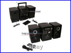 Supersonic SC-807 Portable Audio System with MP3/CD Player/Bluetooth/USB/SD/AUX