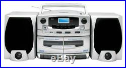 Supersonic SC2020U Double Cassette CD AM FM Boombox Portable Stereo Music Player