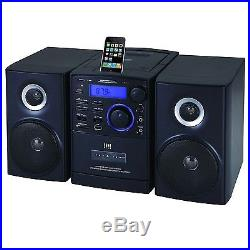 Supersonic SC805 Portable MP3/CD Player With iPod Docking USB/SD/AUX Inputs C