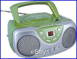 Sylvania Portable CD Player with AM/FM Radio Boombox (Green) Green