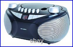 Sylvania Portable Cassette, CD, AM/FM Radio Boombox, with Cassette Player SR