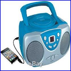 Sylvania SRCD243 Portable CD Player with AM/FM Radio Boombox (Blue)