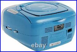 Sylvania SRCD243 Portable CD Player with AM/FM Radio Boombox Blue
