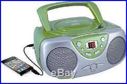 Sylvania SRCD243 Portable CD Player with AM FM Radio Boombox Green