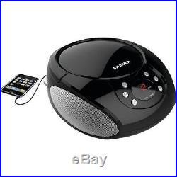 Sylvania Top Loading CD Player Boombox with AM/FM Radio, Black #SRCD261BLK