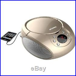 Sylvania Top Loading CD Player Boombox with AM/FM Radio, Champagne #SRCD261CHAP