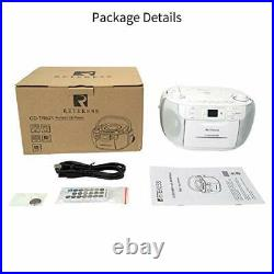 TR621 CD Cassette Player, Portable Boombox AM FM Radio, MP3 Player Stereo Sound