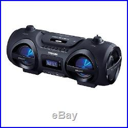 Toshiba Portable Bluetooth CD Player Boombox with Remote Disco Lights USB SD AUX