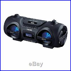 Toshiba Wireless/Portable Bluetooth Top Loading CD Player Boombox with Remote an