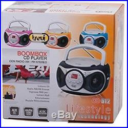 Trevi CD512 Portable Stereo System With Built In AM/FM Radio, CD Player With