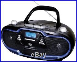 Trevi CMP574 Portable AM/FM Stereo Boombox with CD Player, Cassette Player /