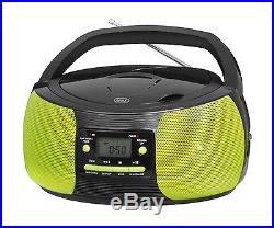 Trevi Portable Stereo Boombox with CD Player FM Radio MP3 Playback Green