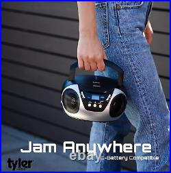 Tyler Portable Cd Player Boombox Radio Am/Fm Top Loading Ac Battery Compatible