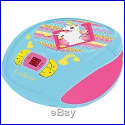 Unicorn Radio CD Player Portable By Lexibook Kids Girls