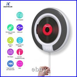 Upgraded Portable CD Player Boombox Remote Control Supports CD USB TF AUX