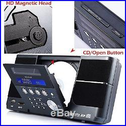 VELOUR YW-006 Portable Stereo CD Player Boombox with FM Radio Clock USB SD and