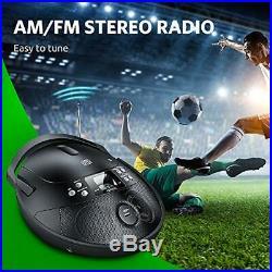VENLOIC CD Player Portable Boombox with Radio, Portable CD Player black