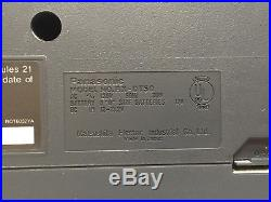 VINTAGE 80s 1988 PANASONIC RX-DT50 BOOMBOX Portable Cassette Vertical CD Player