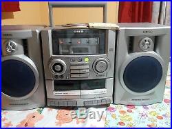 VINTAGE Aiwa CA-DW535 AM/FM Radio Dual Cassette Portable Stereo Boombox